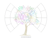 4-Generation Bowtie Family Tree With Graphic family tree template