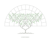 5-Generation Fan With Graphic family tree template