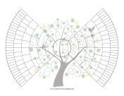 7-Generation Bowtie Family Tree With Graphic family tree template