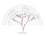 7-Generation Fan With Graphic family tree template