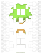 8-Generation Family Tree Graphic family tree template
