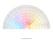 9-Generation Fan Color family tree template