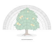 9-Generation Fan With Graphic family tree template