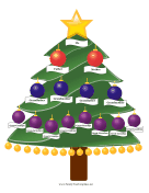Christmas Family Tree family tree template