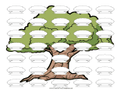 Make Your Own Horizontal Illustrated family tree template