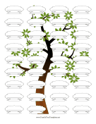 Make Your Own Vertical Illustrated family tree template