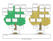 Mirror Family Tree family tree template