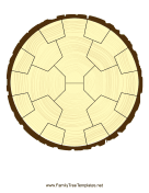 Radial Family Tree 4 Generation Stump family tree template