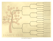 Vintage Ancestry Chart 6 Generations family tree template