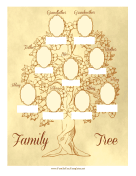 Vintage Family Tree 3 Generations family tree template