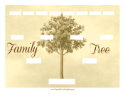 Vintage Family Tree 4 Generations family tree template