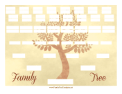 Vintage Family Tree 6 Generations family tree template